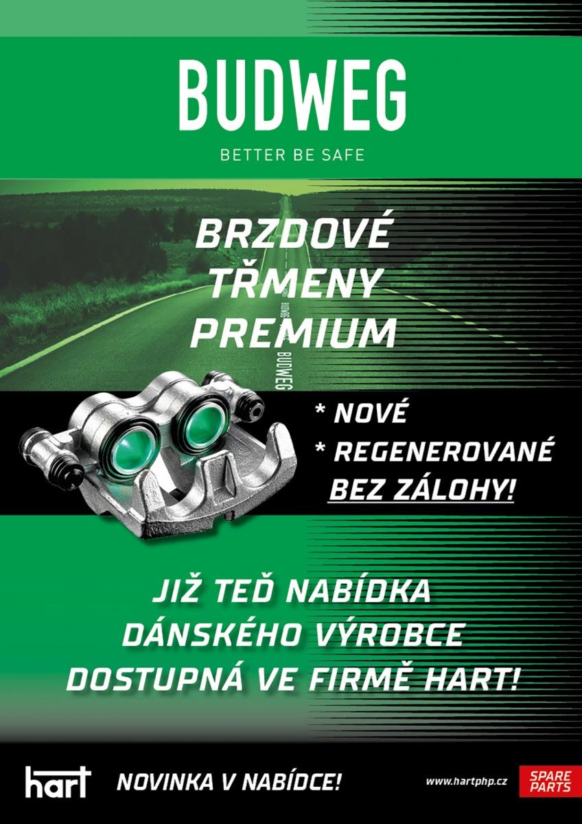 Brzdové třmeny Budweg novinkou v nabídce firmy HART