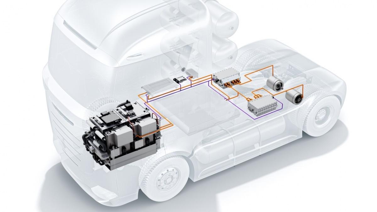 Palivový článek Bosch v nákladních vozech