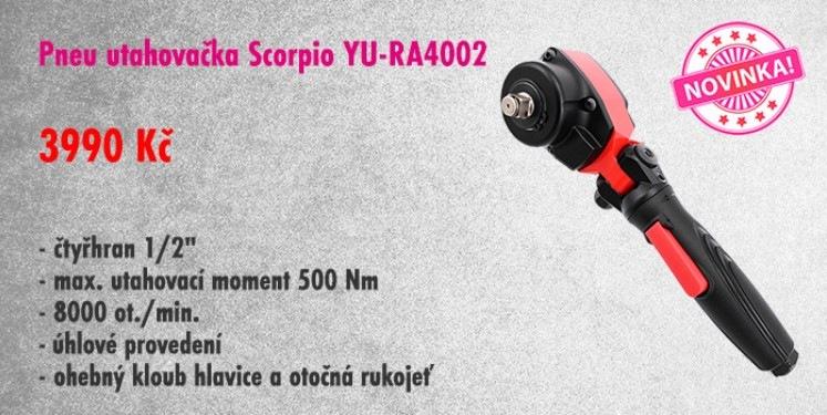 Úhlová utahovačka Scorpio