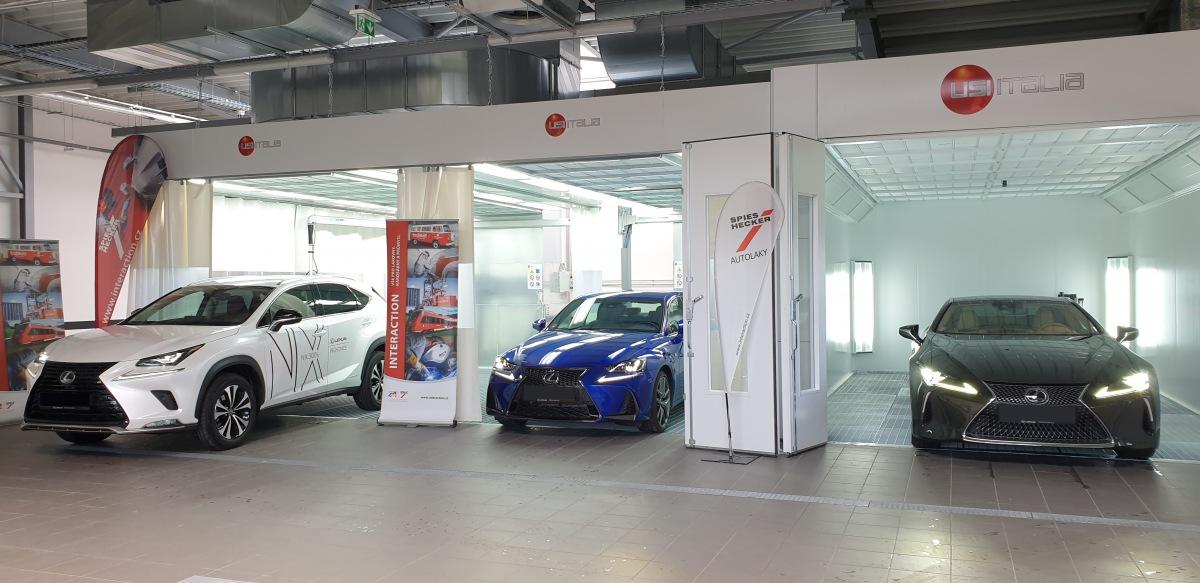 Lakovna v showroomu Lexus v Průhonicích