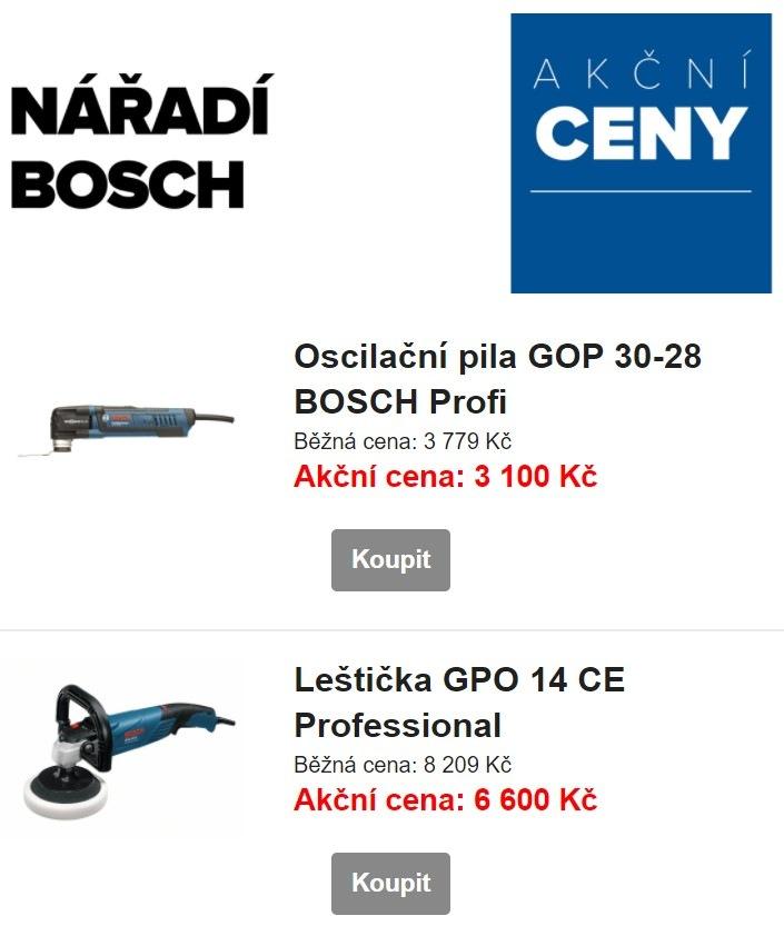 Akční ceny na nářadí Bosch u skupiny LKQ