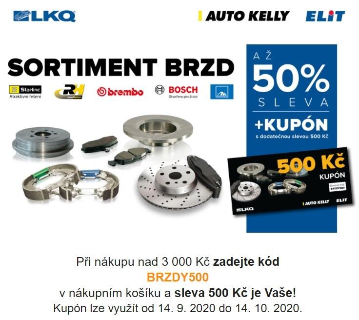 Skupina LKQ CZ (Auto Kelly + ELIT): Až 50% slevy na sortiment brzd