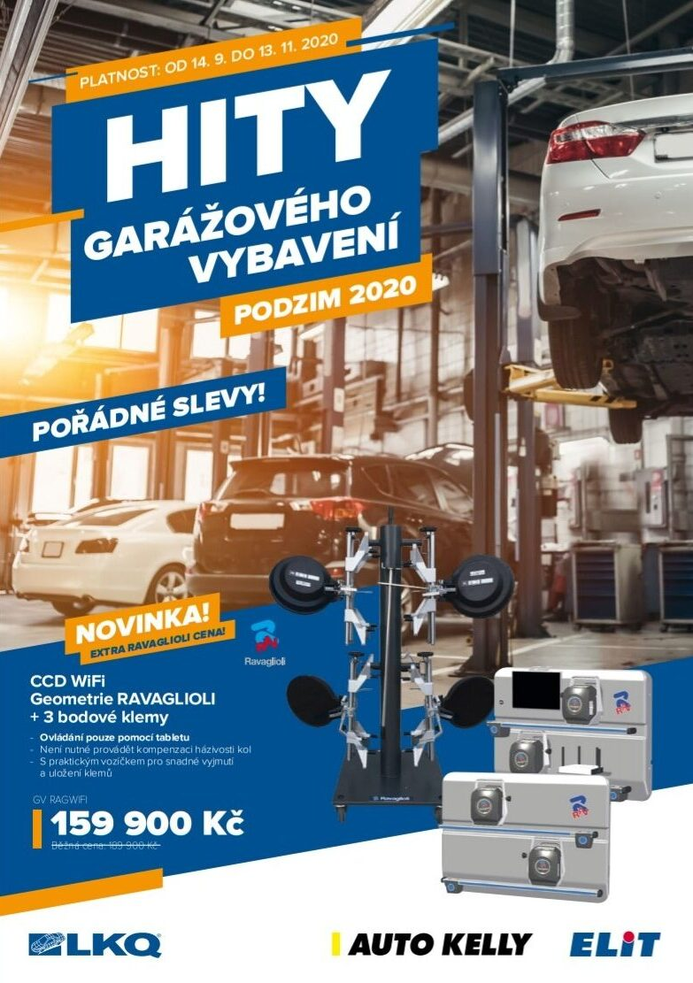 Skupina LKQ CZ (Auto Kelly + ELIT): Slevy garážového vybavení