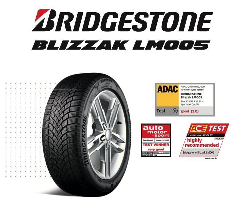 Ocenění Bridgestone Blizzak LM005