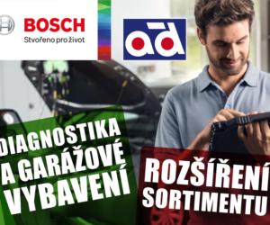 Novinka v sortimentu AD Partner: Diagnostika a garážové vybavení značky Bosch