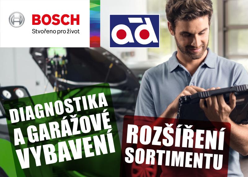 Diagnostika a garážové vybavení značky Bosch nově u AD Partner