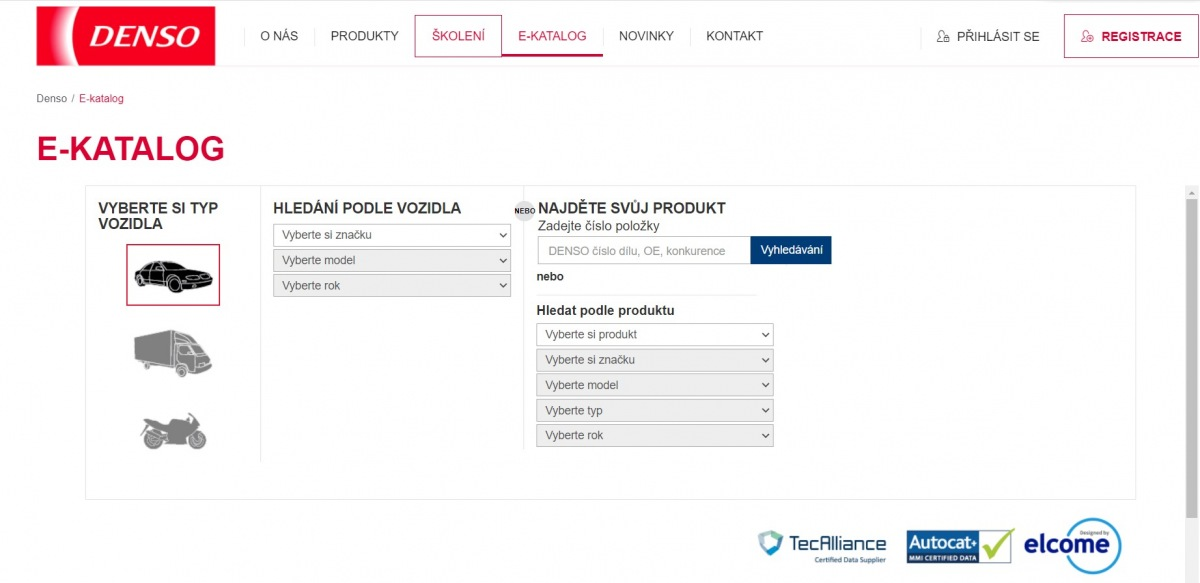 Denso e-katalog v češtině