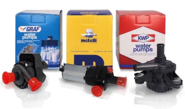Pomocná vodní čerpadla Graf, Metelli, KWP
