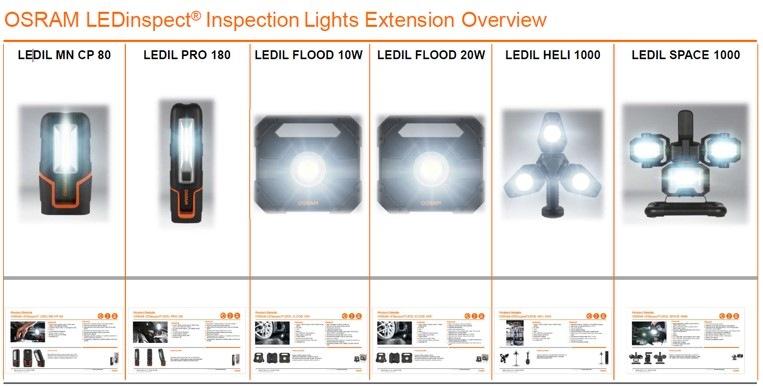 Svítilny OSRAM LEDinspect