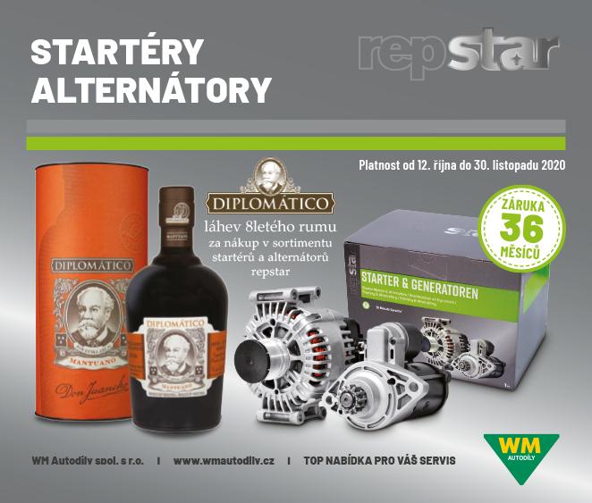 WM Autodíly: Akční ceny produktů repstar + dárky za jejich nákup