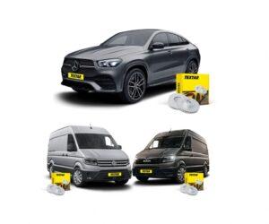 Textar brzdové kotouče pro MAN TGE, VW Crafter a Mercedes-Benz GLE