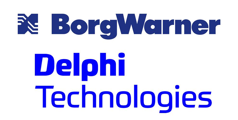Loga BorgWarner a Delphi Technologies