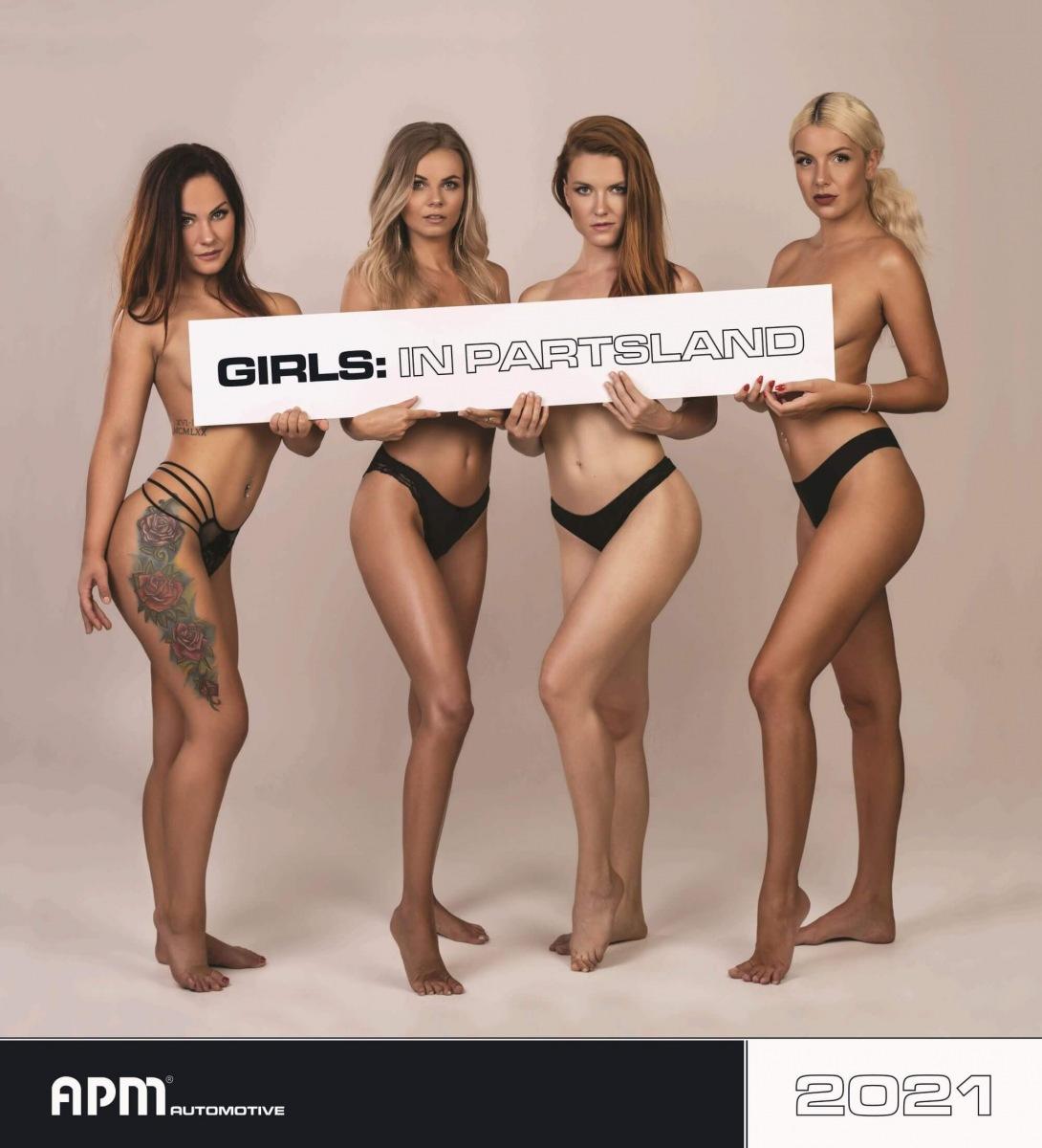 GIRLS: IN PARTSLAND kalendář APM Automotive