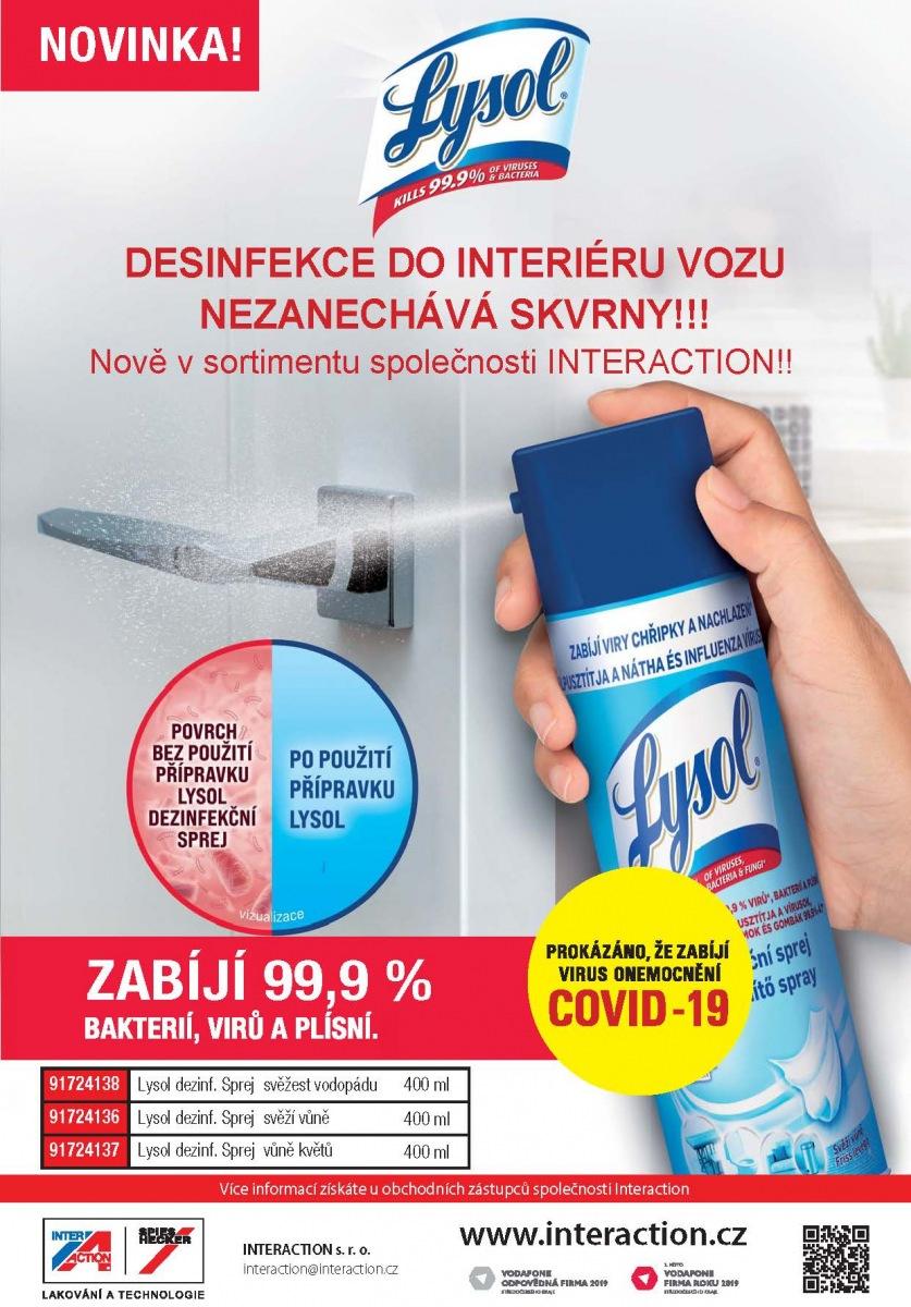 Leták Lysol dezinfekce