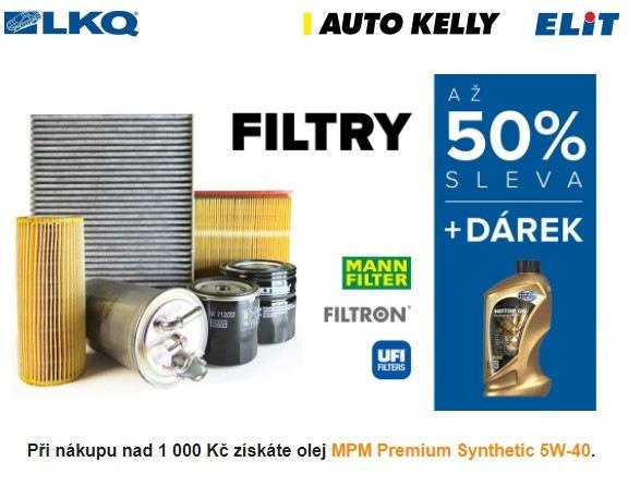 Skupina LKQ CZ (Auto Kelly + ELIT): Filtry za polovinu
