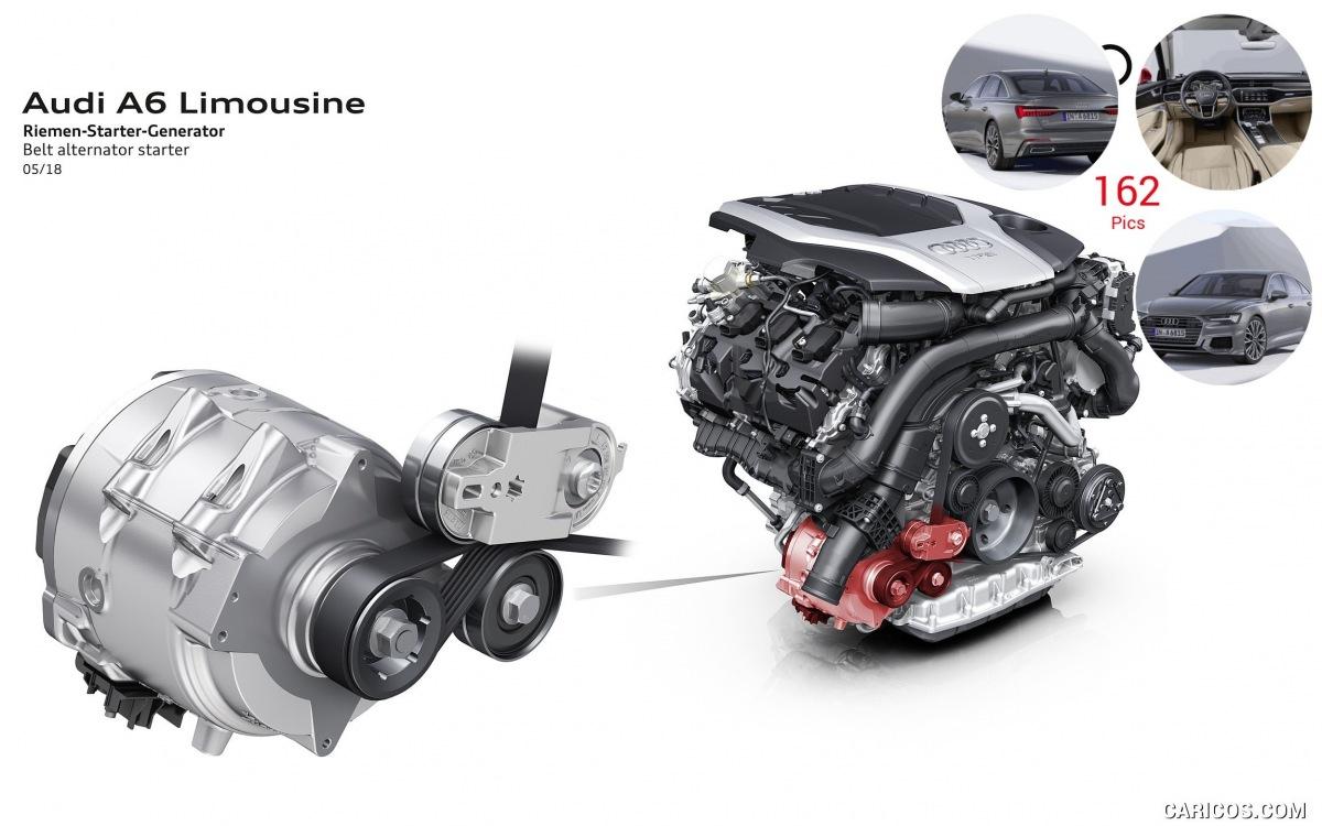 řemen-startér-alternátor pro Audi