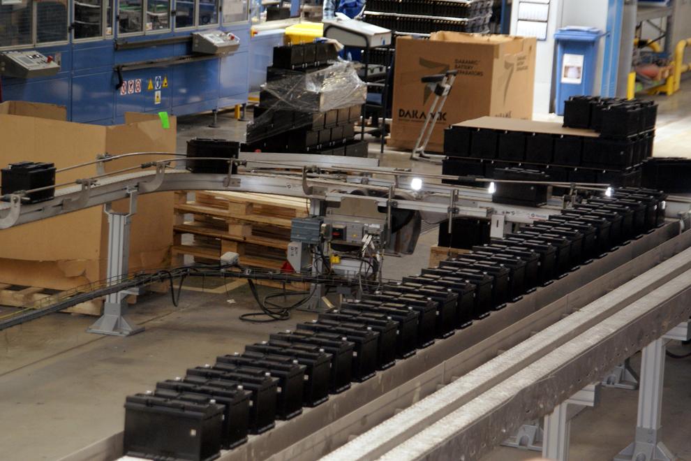 Výroba akumulátorů Exide