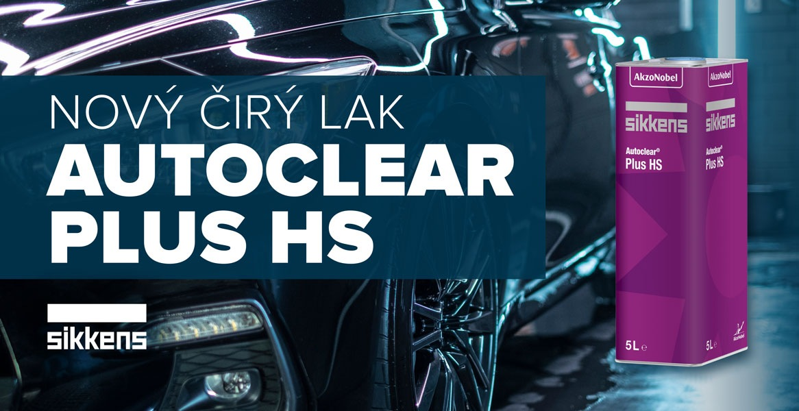 LKQ CZ: Nový čirý lak Autoclear Plus HS od Sikkens