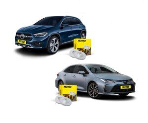 Brzdové kotouče Textar pro vozy Mercedes-Benz GLA a Toyota Carolla