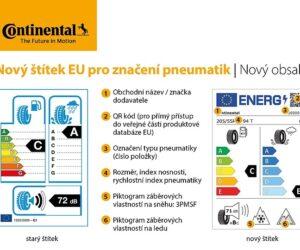 Continental: Nový štítek EU pro značení pneumatik přinese spotřebitelům více informací