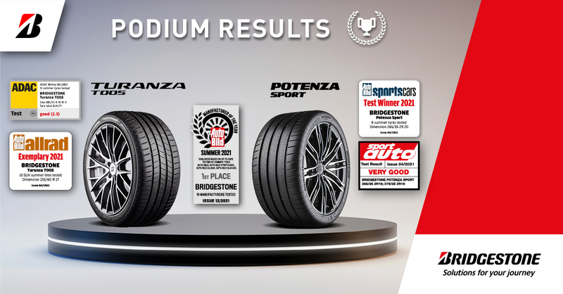 Ocenění pneumatik Bridgestone
