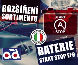 Rozšíření sortimentu AD Partner o baterie Start-Stop EFB