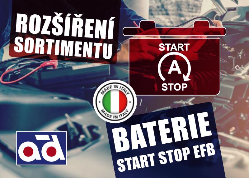 Baterie start-stop EFB u AD Partner