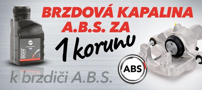 J+M autodíly: Brzdová kapalina A.B.S za 1 korunu