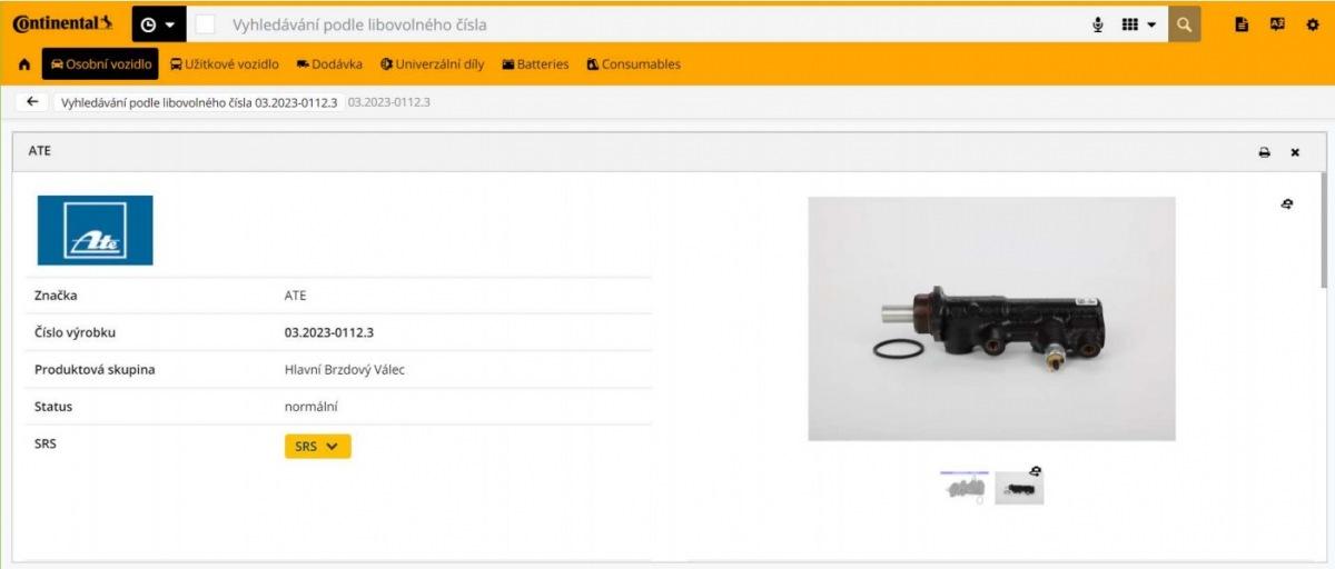 Continental online katalog
