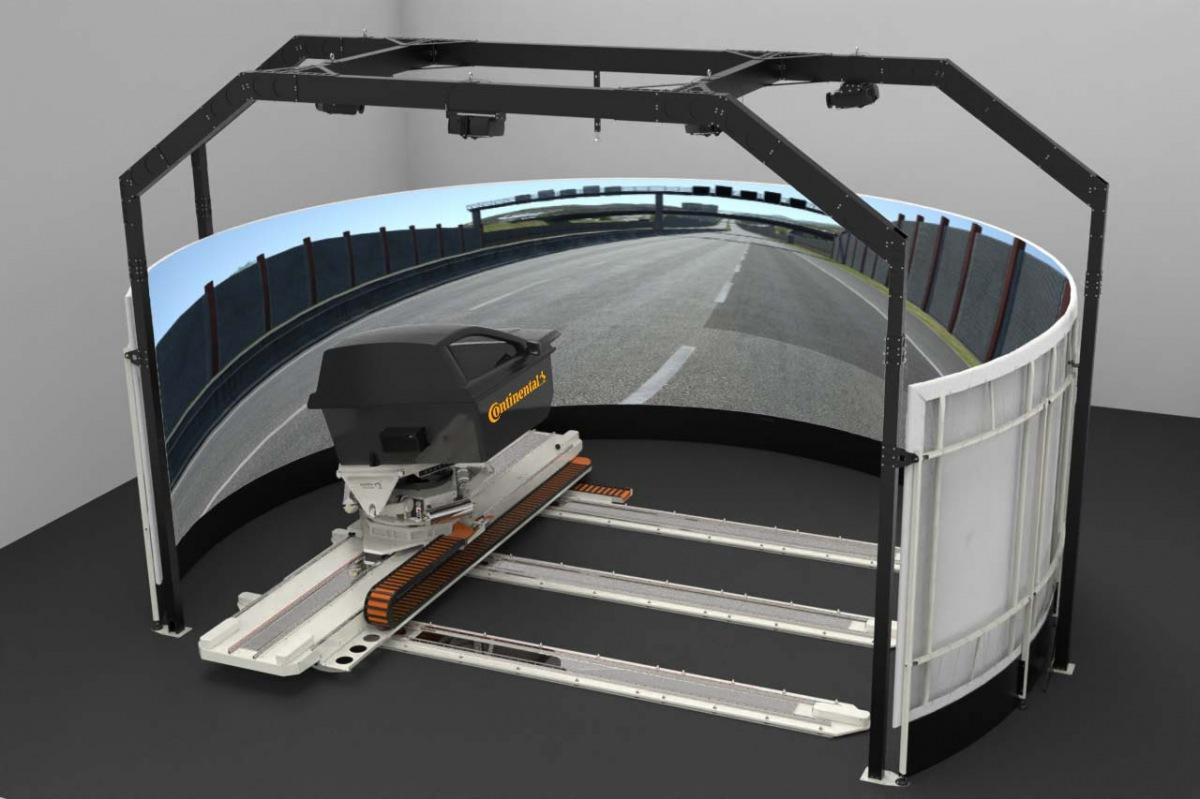 Continental simulace testování pneumatik