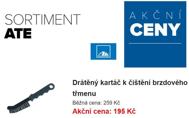 Akční ceny na sortiment ATE u LKQ CZ