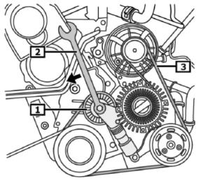 postup demontáže pomocného řemene motorů 1.9 TDI a 2.0 TDI