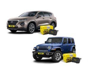 Brzdové destičky Textar pro Hyundai Santa Fe a Jeep Wrangler