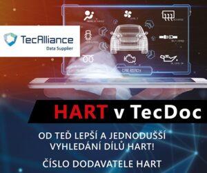 Společnost HART nově v katalogu TecDoc